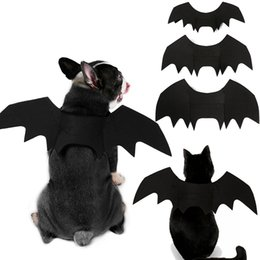 halloween costume wings UK - Halloween Pet Bat Wings Small Large Dog Cat Bat Costume Clothing Pet Accessories Batman Cosplay Dog Clothes
