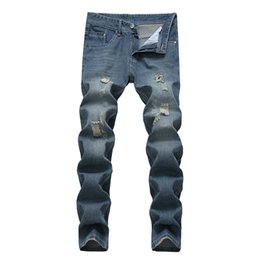 Discount new fashion boy s jeans New denim trousers zipper brand jeans boys high quality stretch jeans men fashion straight fashion pants