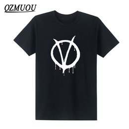 vendetta shirts Australia - New movie V for Vendetta Printed Mens Men T Shirts Fashion Short Sleeve O Neck Cotton Top Tees Camisetas Hombre Size S-5XL