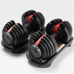 Ajustável halteres 2.5-24kg Pesos exercícios de fitness Halteres construir seus músculos Sports Academia fornece equipamentos ZZA2196 transporte marítimo em Promoção