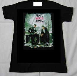 eminem t shirt yellow UK - BAD MEETS EVIL HELL:THE SEQUEL PHOTO T SHIRT NEW OFFICIAL EMINEM ROYCE DA 5'9 T Shirt Summer Style Fashion Men T-Shirts Top Tee