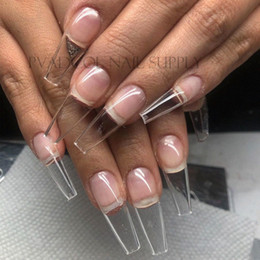 Gel X Nails Extension System Full Cover Sculpted Clear Stiletto Coffin False Nail Tips  Bag Nails Acrylic Nails Supply From Huangcen, jJ0P#