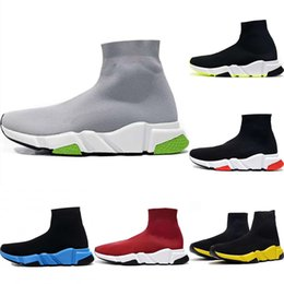 socks mix shoes Australia - 2020 Speed Stretch Knit Breathable High Top Sports Socks Boots Original Speed Mix Buffer Rubber Trainer Shoe