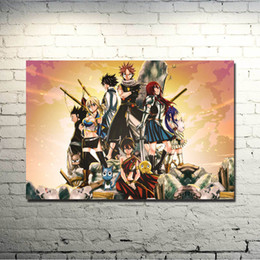 fairy tail prints Australia - Fairy Tail Anime Art Silk Fabric Poster 13x20 Inch Erza Scarlet Natsu Huge Print Pictures For Living Room Decor 022