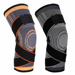 cycle gear orange UK - 1pc Sports Knee Pad Guard Breathable Nylon Kneecap Keep Warm Kneepad Leg Protective Sleeve Cycling Running Fitness Protect Gear pJXJ#