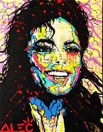 michael paintings UK - Alec Monopol Graffiti art Michael Jackson Home Decor Handpainted &HD Print Oil Painting On Canvas Wall Art Canvas Pictures 1145