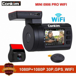 vision pro UK - Conkim Mini 0906 Pro WIFI Dual 1080P Lens GPS Car Dash Camera Loop Recording Night Vision RF Remote Controller Car DVR NRb0#