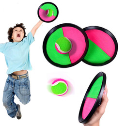 sticky toys UK - 1 Set Kids Sucker Sticky Ball Toy Outdoor Sports Catch Ball Game Set Throw And Catch Parent-Child Interactive Outdoor Toys #123
