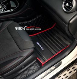 mercedes floor mats NZ - Suitable For All models Mercedes-Benz 2003~2021 luxury custom Waterproof Non-slip Carpets floor mat Non toxic and inodorous-4 door or 2 door