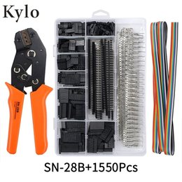flat clamp Canada - SN-28B+1550Pcs dupont crimping tool pliers terminal ferrule crimper wire hand tool set terminals clamp kit tool Y200321