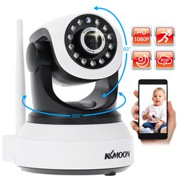 2mp network camera UK - KKmoon® Wireless Wifi 1080P HD H.264 2MP AP IP Network Home IR Security Camera P T Webcam