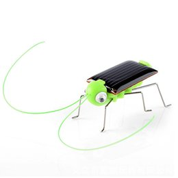 solar powered gadgets gifts UK - Educational Solar Powered Grasshopper Robot Toy Solar Powered Toy Gadget Gift toys Educational Gadget No batteries for kids C520