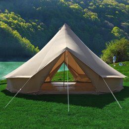 double bell UK - GRNTAMN 4MWaterproof Windproof Bell Tent Outdoor Sibley Glamping Tent with Two Doors Send to Shenzhen