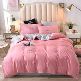 cotton baby bedding sets UK - bed linens pink Bedding Sets Duvet Cover sets Sheet Pillowcases quilt Cover Set T200801