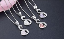 silver costume necklaces Australia - B7 Mixed order top quality women's S925 sterling silver CZ pendants for necklace silver CZ necklace swan silver pendant costume jewelry DD