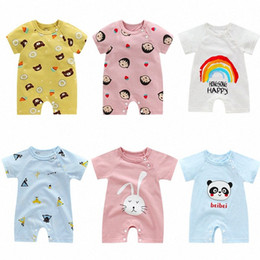 anime clothing for Canada - 2020 2020 Cartoon Anime Short Newborn Baby Clothes Pure Cotton Summer Rompers Kids Baby Girl Jumpsuit Toddler Costume For Boys Romper kluq#