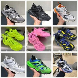 spring tracking Canada - New fashion Triple S Track Trainers men shoes designer Clunky sneakers black orange ladies walking Paris dirt PPne#