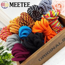 twisted rope cord UK - Meetee 30meters 8mm Polyester Twisted Cords Hand Decoration Woven Rope DIY Gift Packaging Double ColorTwine Cords Accessories twtW#