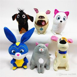 pet figures UK - 20-25cm Stuffed animals The Secret Life of Pets 2 plush toys 6 styles PP cotton Secret Life of Pets Dog kids toys