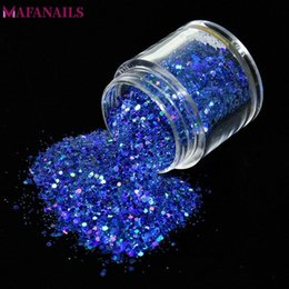 hexagon glitters UK - 1Pc Shiny Laser Nail Glitter Flakes 10ML Mix Hexagon Paillette Sequins Powder Dust Holographic Nail Art Manicure Decoration MA01 M969#