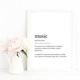 modern music oil painting UK - Music Quotes Wall Posters Decor Modern Minimalist Wall Art Canvas Prints Paintings Nordic Style Dance Studio Decorative Pictures