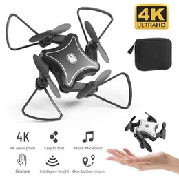 video rc UK - 2019 New Original Mini Drone Folding UAV RC Drone with 4K HD Video Camera 4-axis dron RC Quadcopter kids Helicopter drones toys