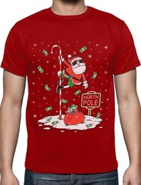 men pole dancing Canada - Santa North Pole Dancing Funny Ugly Christmas T-Shirt Xmas PresentCartoon t shirt men Unisex New Fashion tshirt free shipping