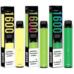 Puff XXL desechable Vape pluma vainas Dispositivo 6,5 ml de hojaldre XXL 1000 mAh batería 1600 bocanadas del equipo e cigarrillos desechables 10 colores en venta