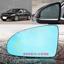 car signals mirror lights Australia - For Buick LaCrosse 2018 Car Rearview Mirror Wide Angle Blue Mirror Arrow LED Turning Signal Lights