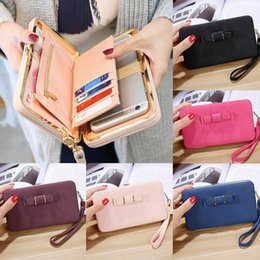 passport case women Australia - Women Girl PU Leather Clutch Wallet Long Women heel Purses Box Wallets Card Holder Mobile handbag case