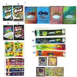 EMPTY Errlli Gushers Rope Dope Flav Dank Gummies edible packaging Chuckles Medibles NeRds ROPE medicated candy CANNABURST edibles packaging on Sale
