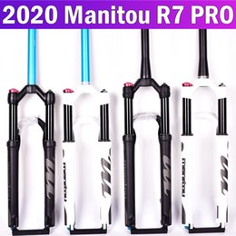 26 inch carbon fork Australia - GU6wh 2020 Manitou Manitou R7 PRO air pressure Pneumatic damping inner shock absorption front fork 26 27.5 inch straight cone tube black inn