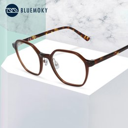 myopia computer NZ - BLUEMOKY Vintage Square Acetate Anti Blue Light Blocking Glasses For Women Men Radiation Computer Gaming Myopia Optical Glasses