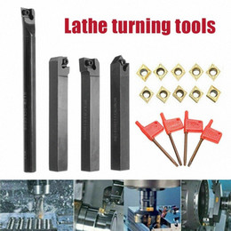 carbide turning tools UK - 1set 12mm CNC Turning Tool Bar Holder with 10Pcs CCMT09T304 Carbide Inserts with 4Pcs T15 Spanner CLH@8 L5xm#
