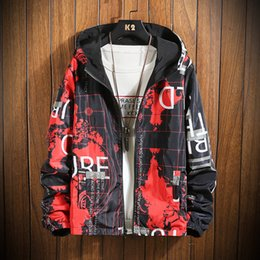 mens reversible jackets NZ - Reversible Spring Autumn Mens Casual Camouflage Hoodie Jacket Men Waterproof Clothes Windbreaker Coat Male Outwear Plus Size 5XL