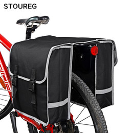 bike trunk bag NZ - Bicycle rear seat bag,MTB bike luggage double pannier carrier bag on the trunk,cycling case seatpost bag for bicycle accessories MX200717