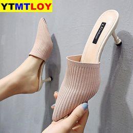 Fashion Women Sandals Summer Shoes Party High Heel Stiletto Flat Casual Summer Sandals Women High Heels Gladiator Stretch Fabric U8M2#