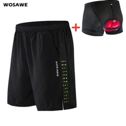 padded trousers UK - Men's Cycling Shorts 5D Padded Underwear Mountain Bike Downhill Shorts Loose Outdoor Sports Riding Bicycle Short Trousers
