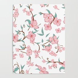 painting green Australia - Beautiful Pink Flowers Green Leaf HD Prints Home Decor Painting Poster Wall Art Canvas Modular Frame Pictures For Living Room