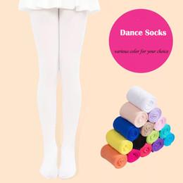 Wholesale Wholesale Girls Pantyhose Tights Kids Dance Socks Candy Color Children Velvet Legging Clothes Baby Ballet Stockings Kids Solid Socks