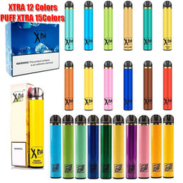Puff Xtra Xtra monouso Dispositivo Pod Kit 1500 Sbuffi preriempita Cartridge 5,0 ml Batteria Vape Svuotare penna VS Bar Air Plus Flusso Glow in Offerta