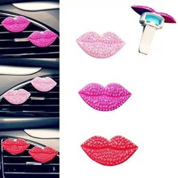 new sexy clips UK - New Christmas Fashion Loving Sexy Lips Car Air Fragrant Outlet Freshener Perfume Clip Freshener Diffuser Gift Perfume Clip Car Inner Perfume