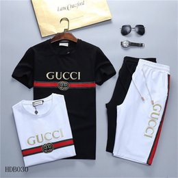 Wholesale running outfits men for sale – designer Men Designers Tracksuits Cotton Jogging suit Male Fashion Crew Neck Outfit Sportwear Sets Mens Running Jogger Suits Outwear Sweatshirts
