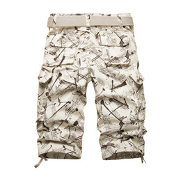 camo skirt fashion NZ - 2020 Summner Cotton Mens Cargo Shorts Fashion Camouflage Male Shorts Multi-Pocket Casual Camo Outdoors Tolling Homme Short Pants CX200731