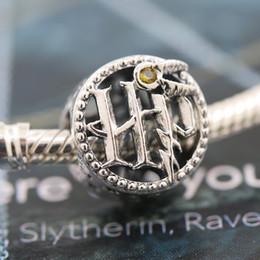 Toptan satış Muhbir Charm boncuk boncuklu 2020 Yayın S925 Gümüş Harry Potter Koleji logosu Avrupa Pandora Bilezikler Kolye uyar