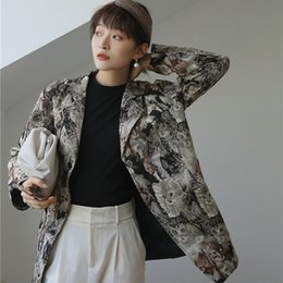 Wholesale fly cat online – design Small design loose casual cat slave Coat coat small suit suit jacket cotton women spring and autumn