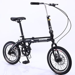 bicycle carry Australia - Factory Direct Childrens Student Bicycle 16-Inch Double Folding Easy to Carry Single Speed Double Disc Brake Export Gift Bicycle