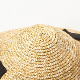 up brim straw hat Australia - USPOP New Sun women conical summer wide brim wheat female lace-up straw beach hat Y200716