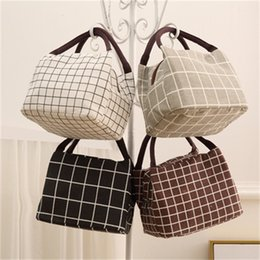 creativity bag Canada - New Fashion Lattice Bento Bag Creativity Lunch Box Bags Insulated Coolers Handbag Outdoors Dinner Party Hot Sale 5 2pdH1