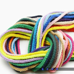 white horse clothing NZ - Clothing sturdy and durable rope binding weaving multicolor round rope fashion cotton rope shoelace